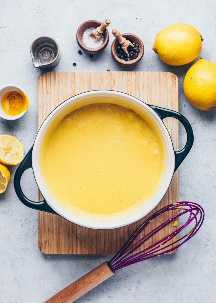 homemade vegan sauce hollandaise (recipe instruction step 6)