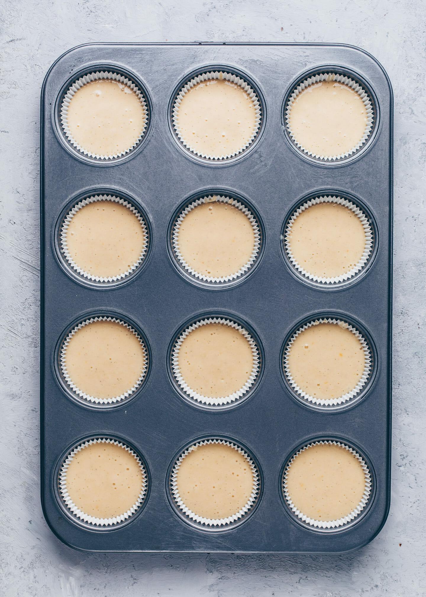 Einfache Vegane Vanille-Kuchen Muffins (Cupcakes) Rezept