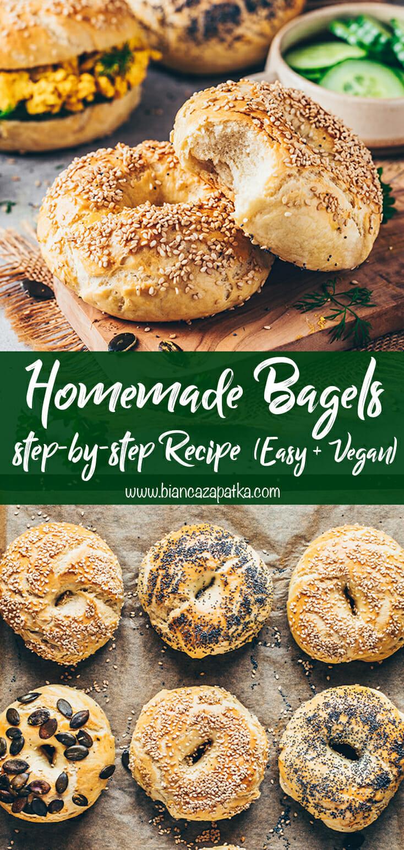 Homemade Bagels (The Best Recipe) Vegan, Easy