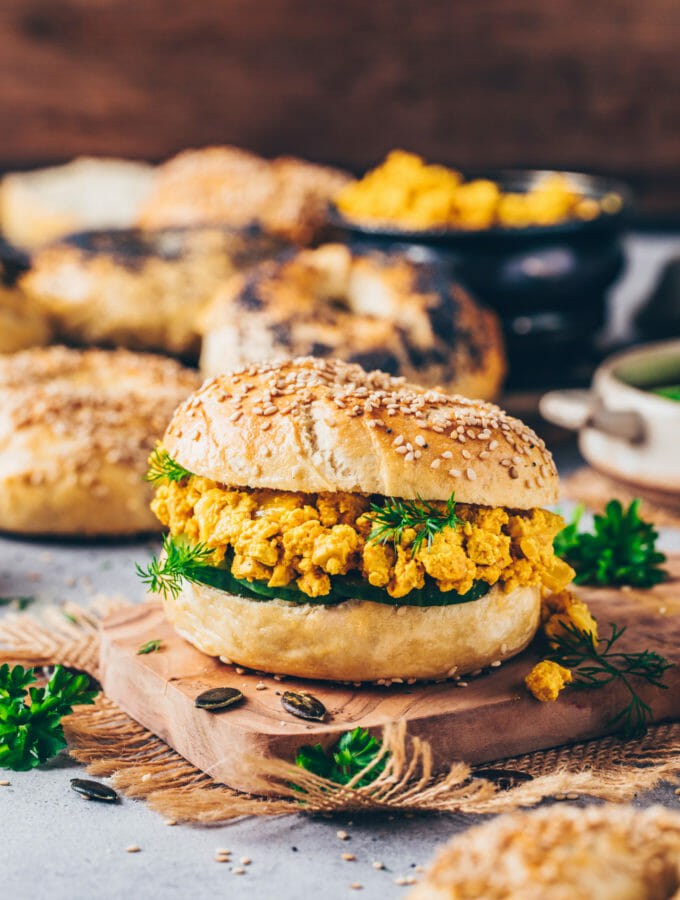 Bagels with Tofu Scramble