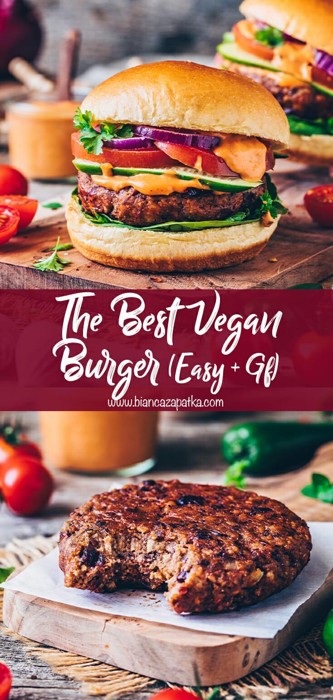 The best vegan burger recipe (veggie bean patty)