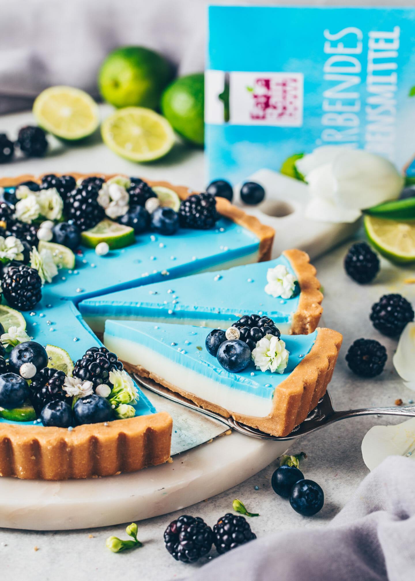 Blaue Limetten-Tarte (Vegan und Natürlich)