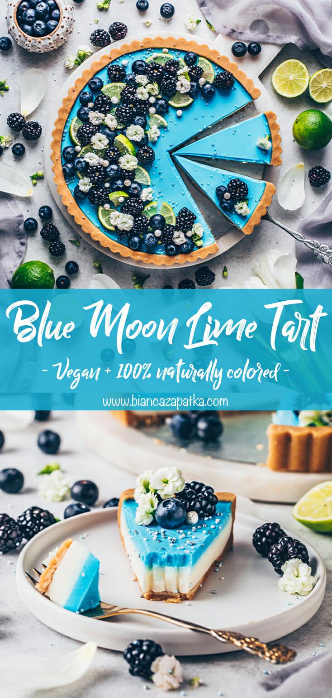 blueberry lime tart (no-bake, vegan, food photography)