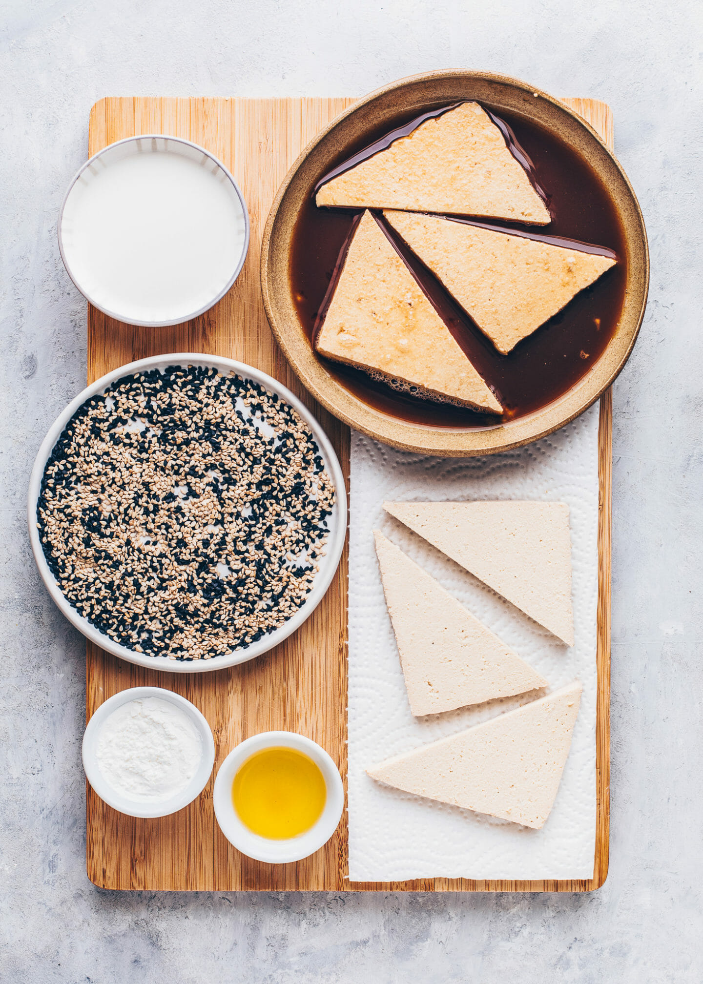 Knuspriger Sesam-Tofu Rezept