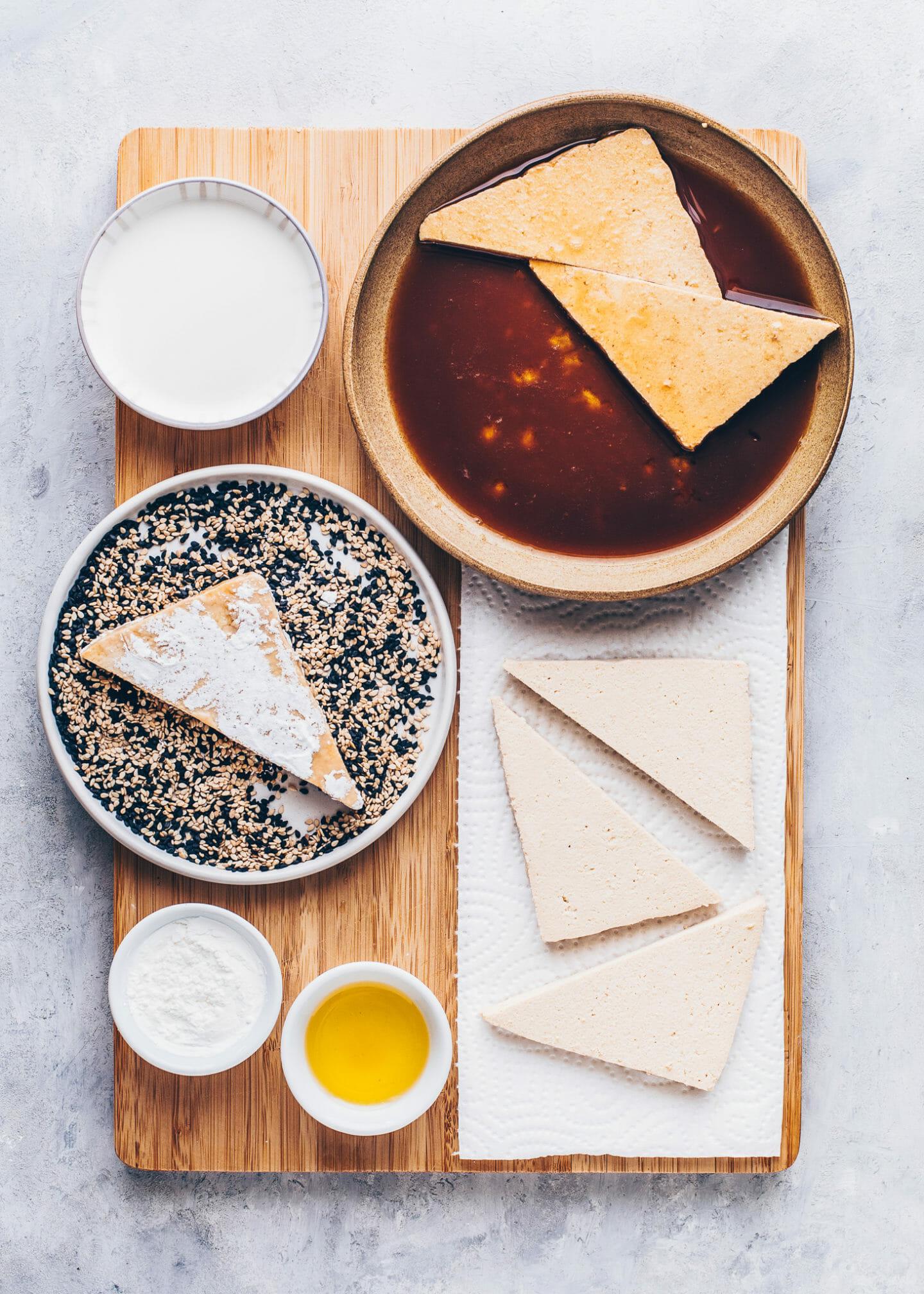 Knuspriger Sesam-Tofu