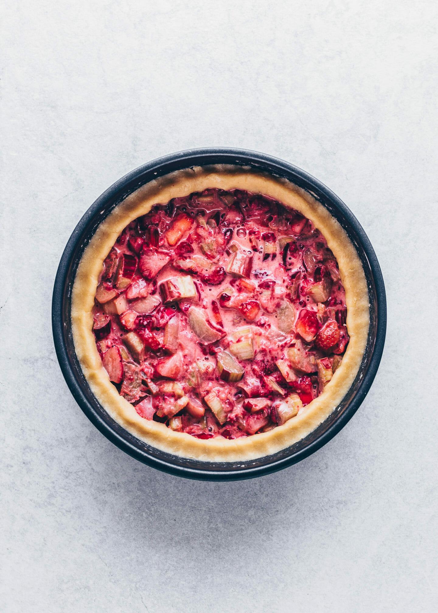 Erdbeer-Rhabarber Pie (Rezept, Anleitung)
