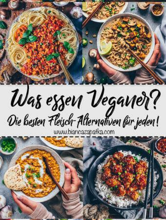Fleischersatz - Die besten veganen Alternativen zu Fleisch!