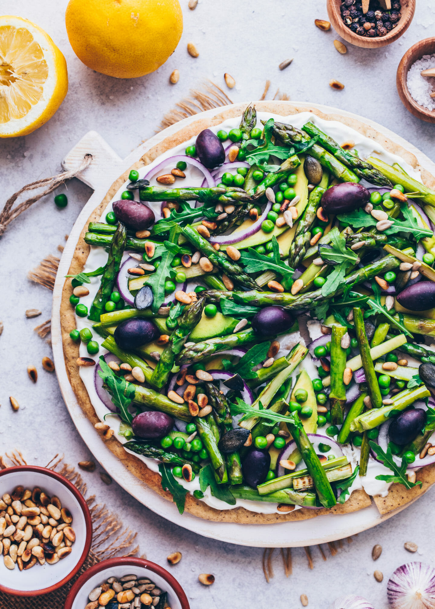 Green Goddess Pizza (Food Photography, Food Styling)
