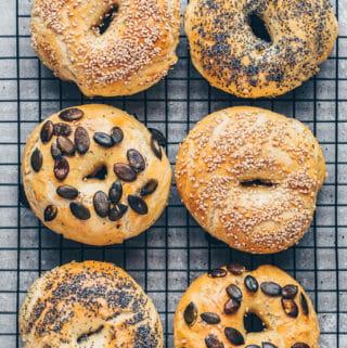 Die besten Bagels (selbstgemacht, vegan)