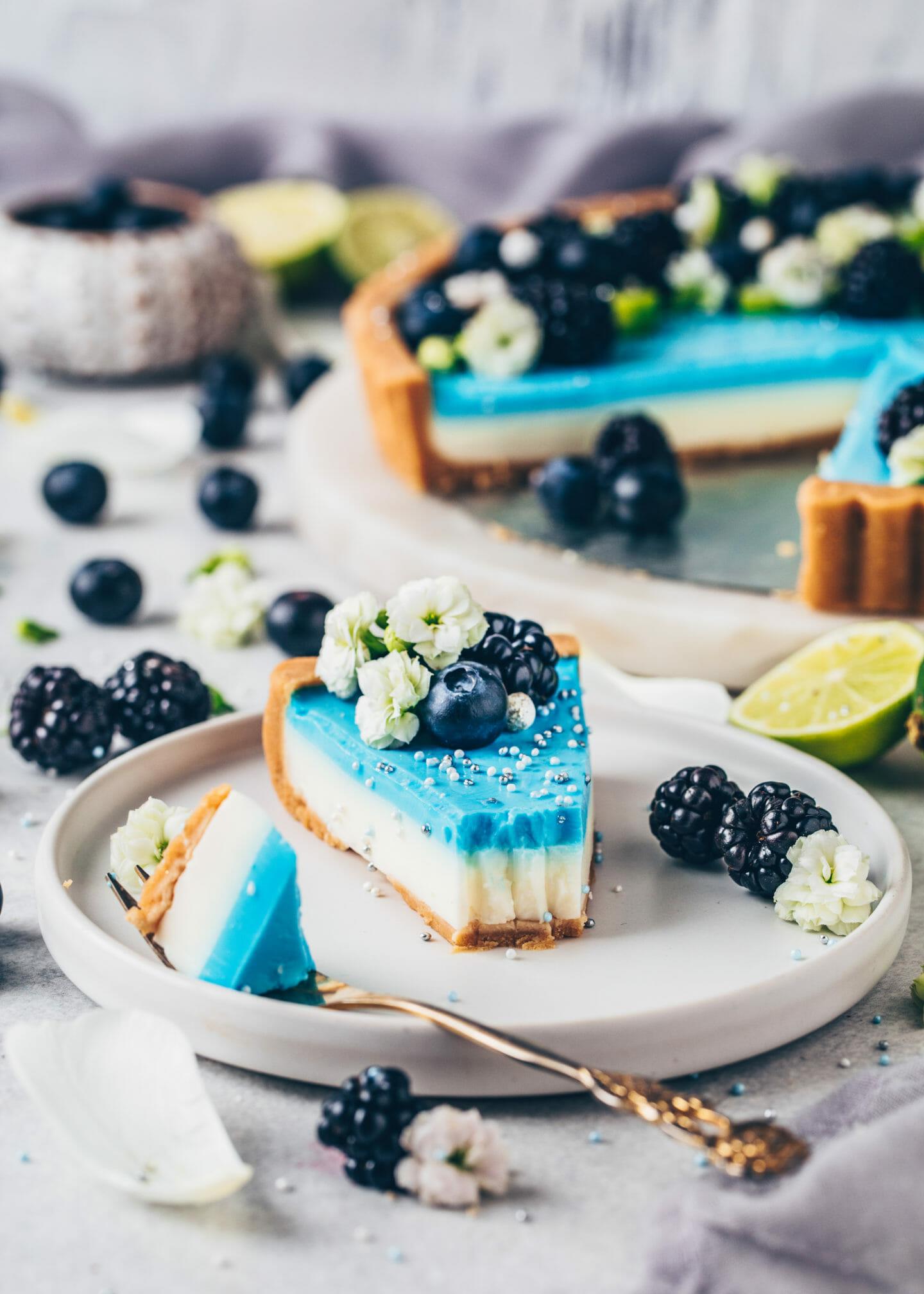 Blaubeer-Limetten-Tarte (Vegan)