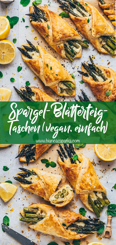 Spargel-Blätterteig-Taschen mit Käse