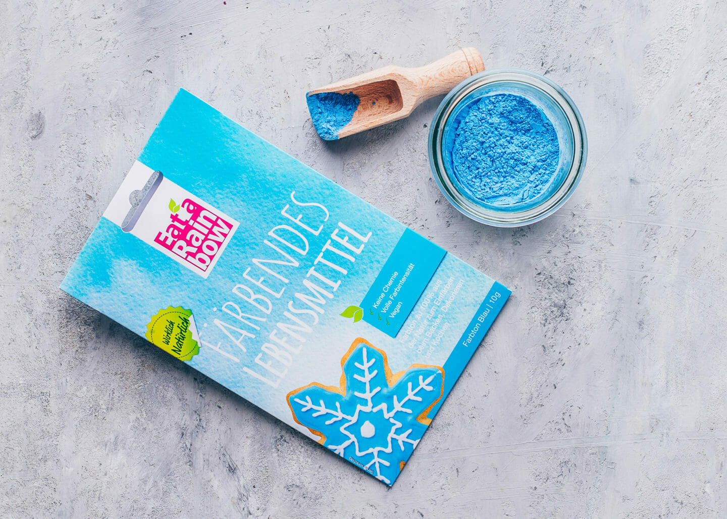 Superfood Pulver, Spirulina blau, vegan