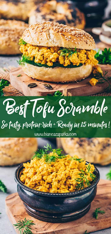 tofu scramble (vegan scrambled eggs)