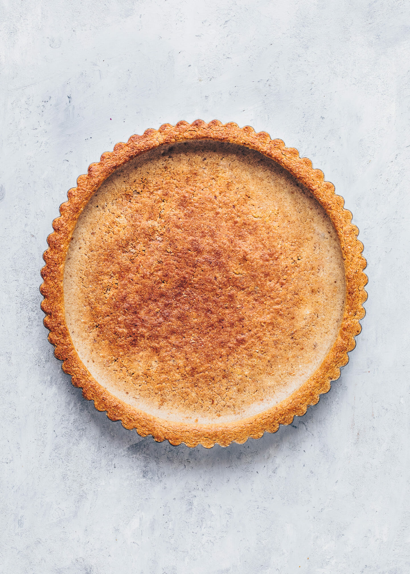 Baked gluten-free tart crust for lemon pie
