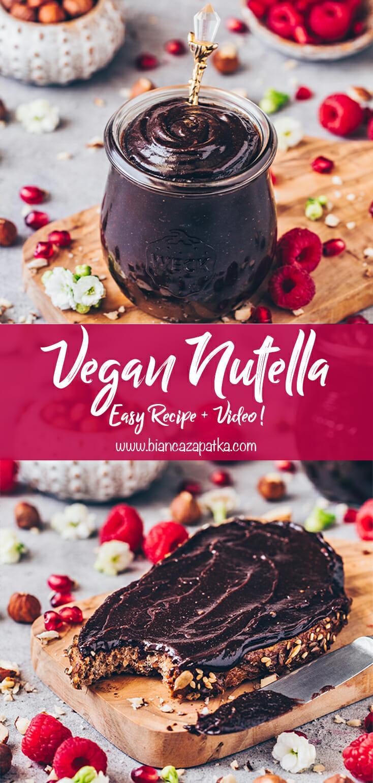 Vegan Nutella (homemade, easy, healthy)