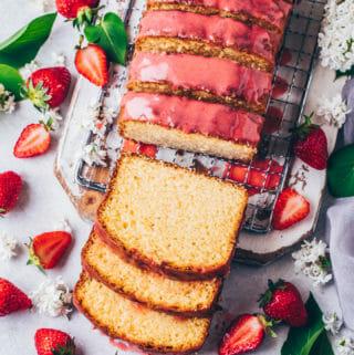 Lemon Cake with Strawberry Glaze (Food Photography, Food Styling)