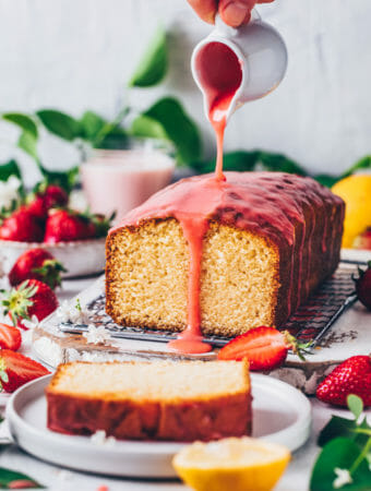 Lemon Cake with Strawberry Glaze (Food Photography, Food Styling)