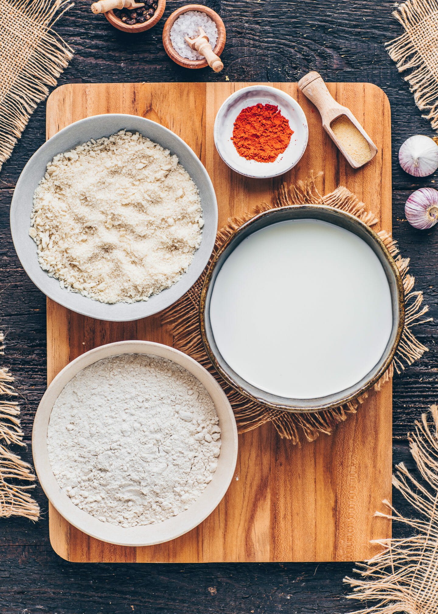 breadcrumb coating for baked vegan potato croquettes