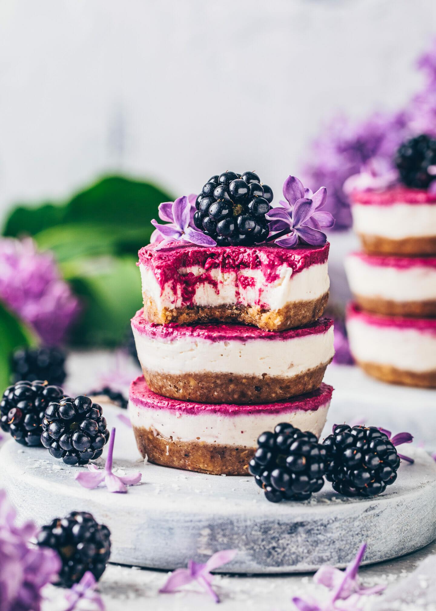 Brombeer Käsekuchen Cupcakes (Cheesecake Muffins)