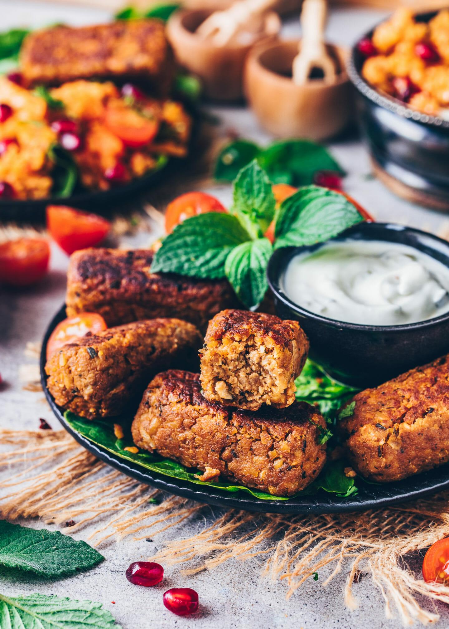 Chickpea Sausages (Falafel)