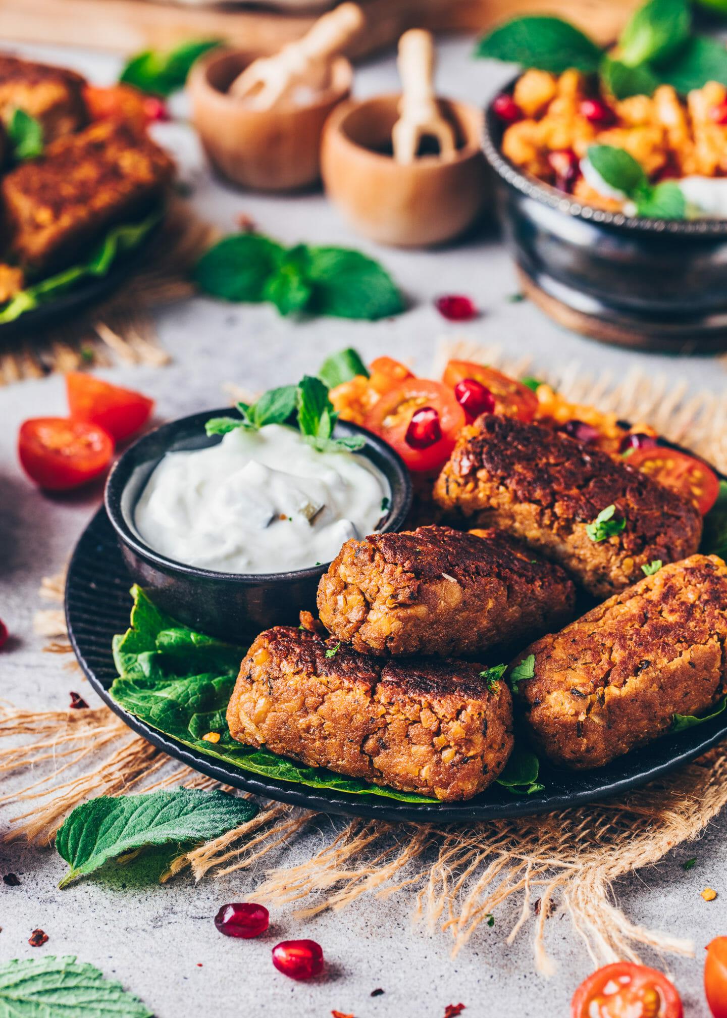 Chickpea Sausages (Vegan Meat Rolls)