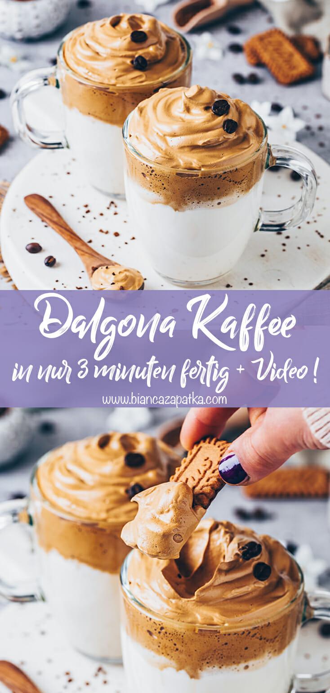 Dalgona Coffee, Schaumkaffee, Eiskaffee, Kaffee Latte