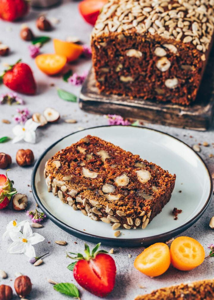 Vegan date nut bread