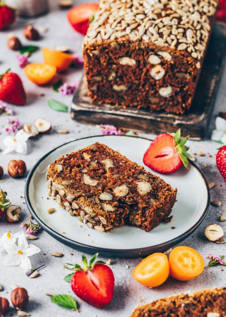 Date walnut bread (Vegan Loaf)