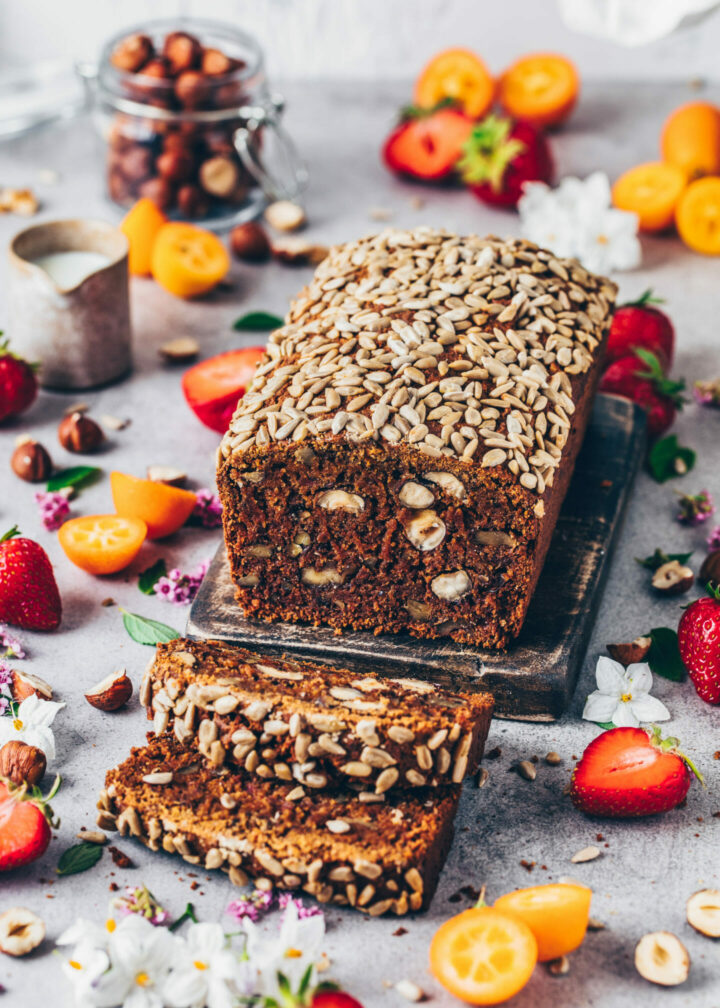 Vegan date walnut bread