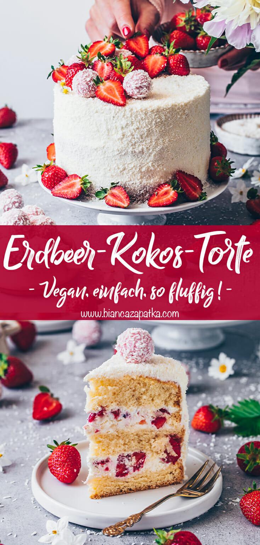 Erdbeer-Kokos-Torte mit Raffaello