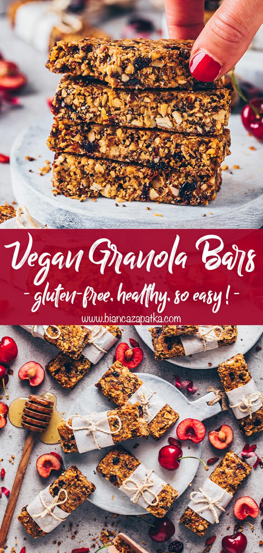 Granola Bars (vegan, gluten-free, healthy, homemade)
