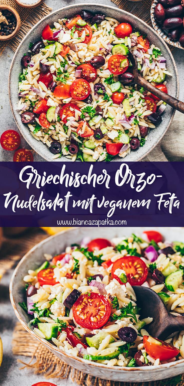 Griechischer Orzo-Salat (Nudelsalat)