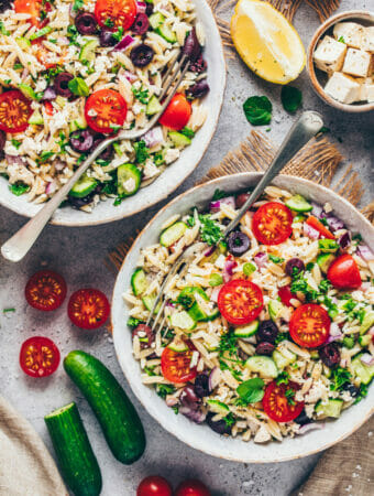 Vegan Pasta Salad with Orzo