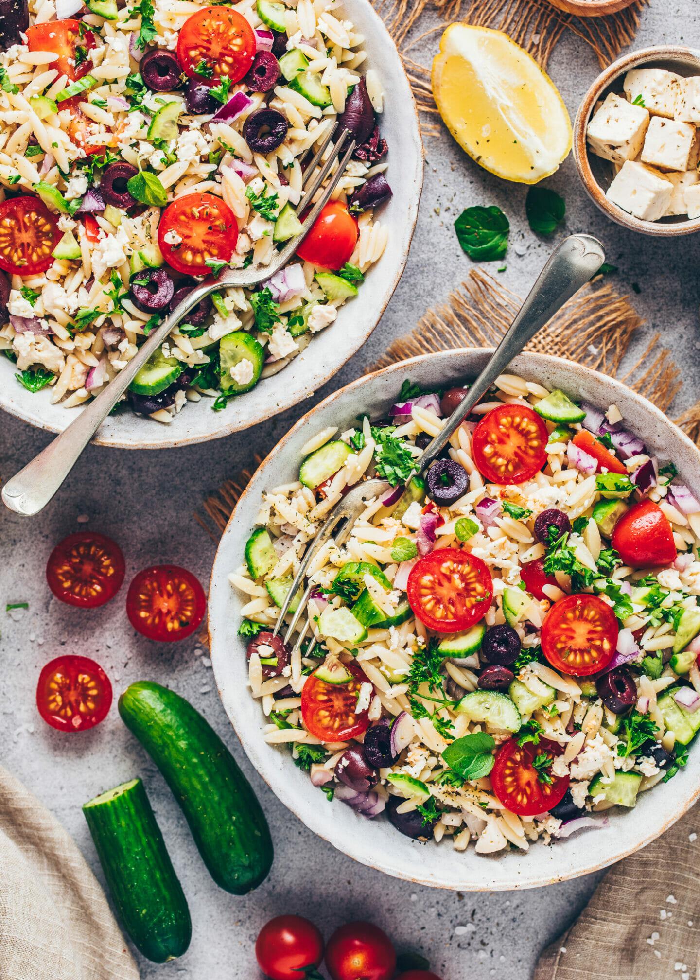 Vegan Pasta Salad with Orzo