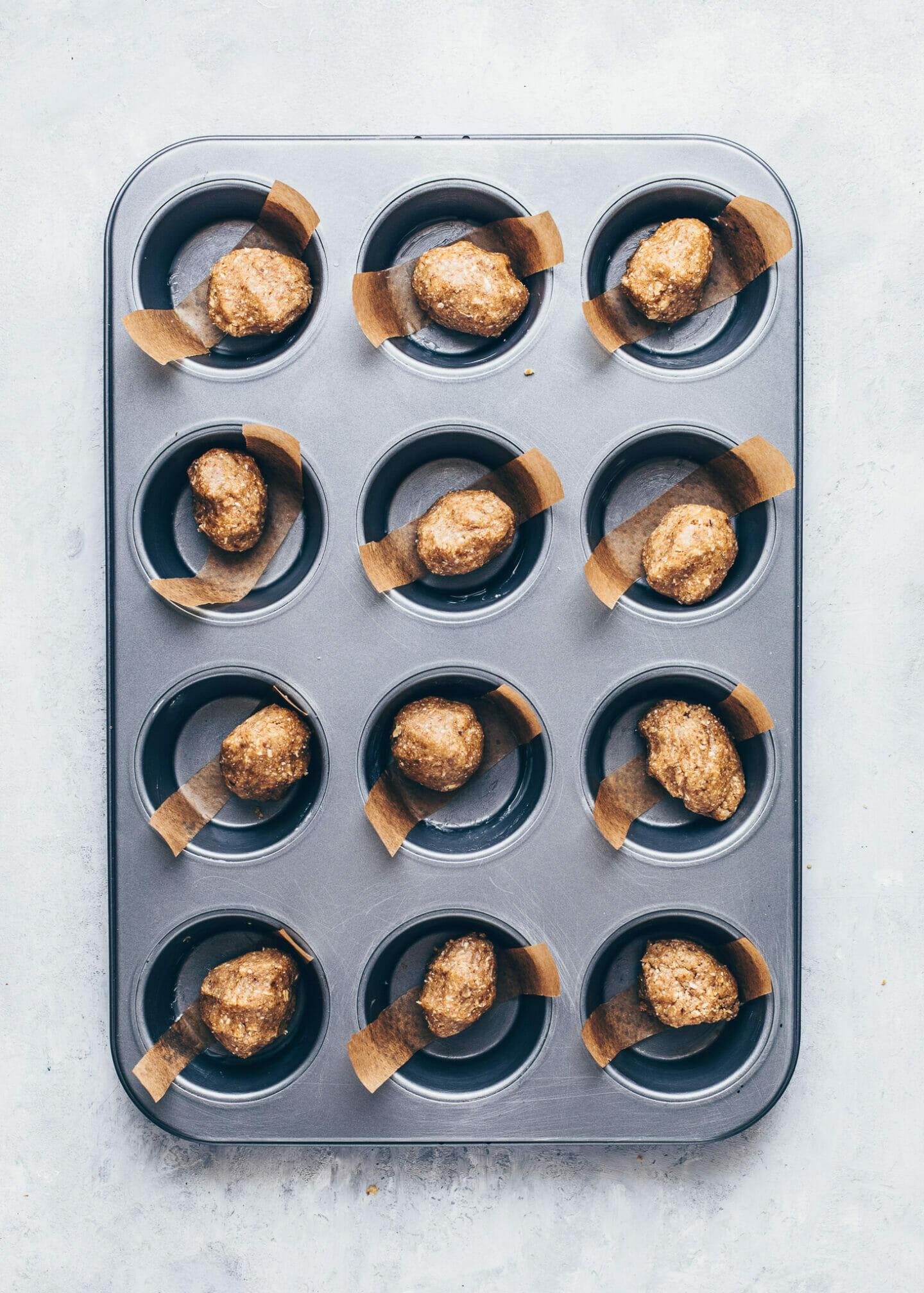 Mini Käsekuchen Cupcakes (vegan, glutenfrei)