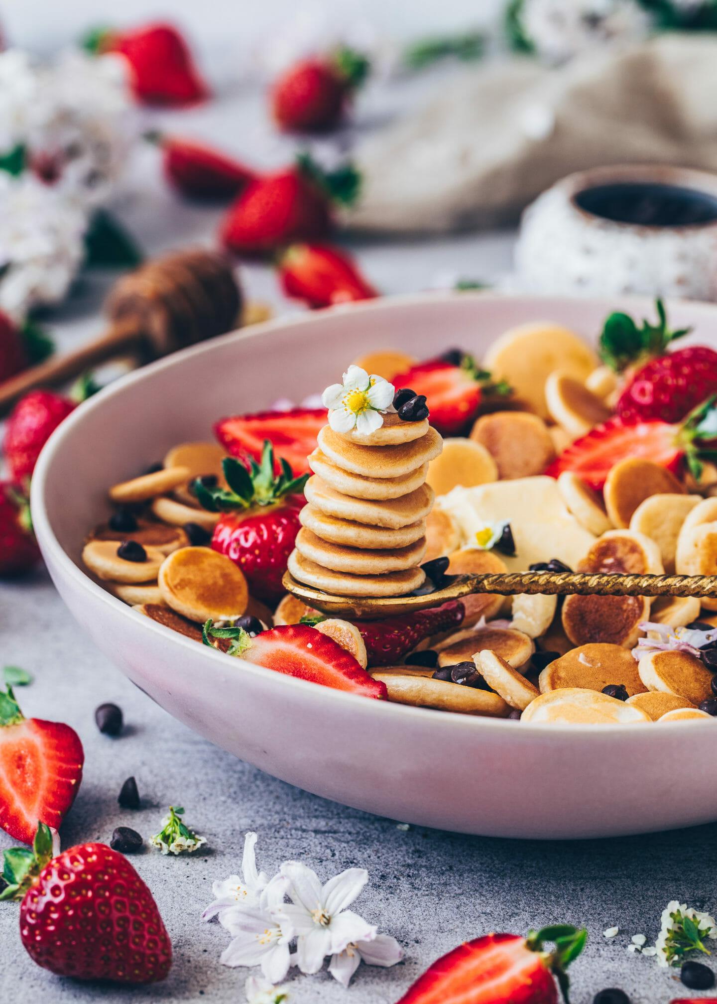 Mini Pancakes, kleine Pfannkuchen