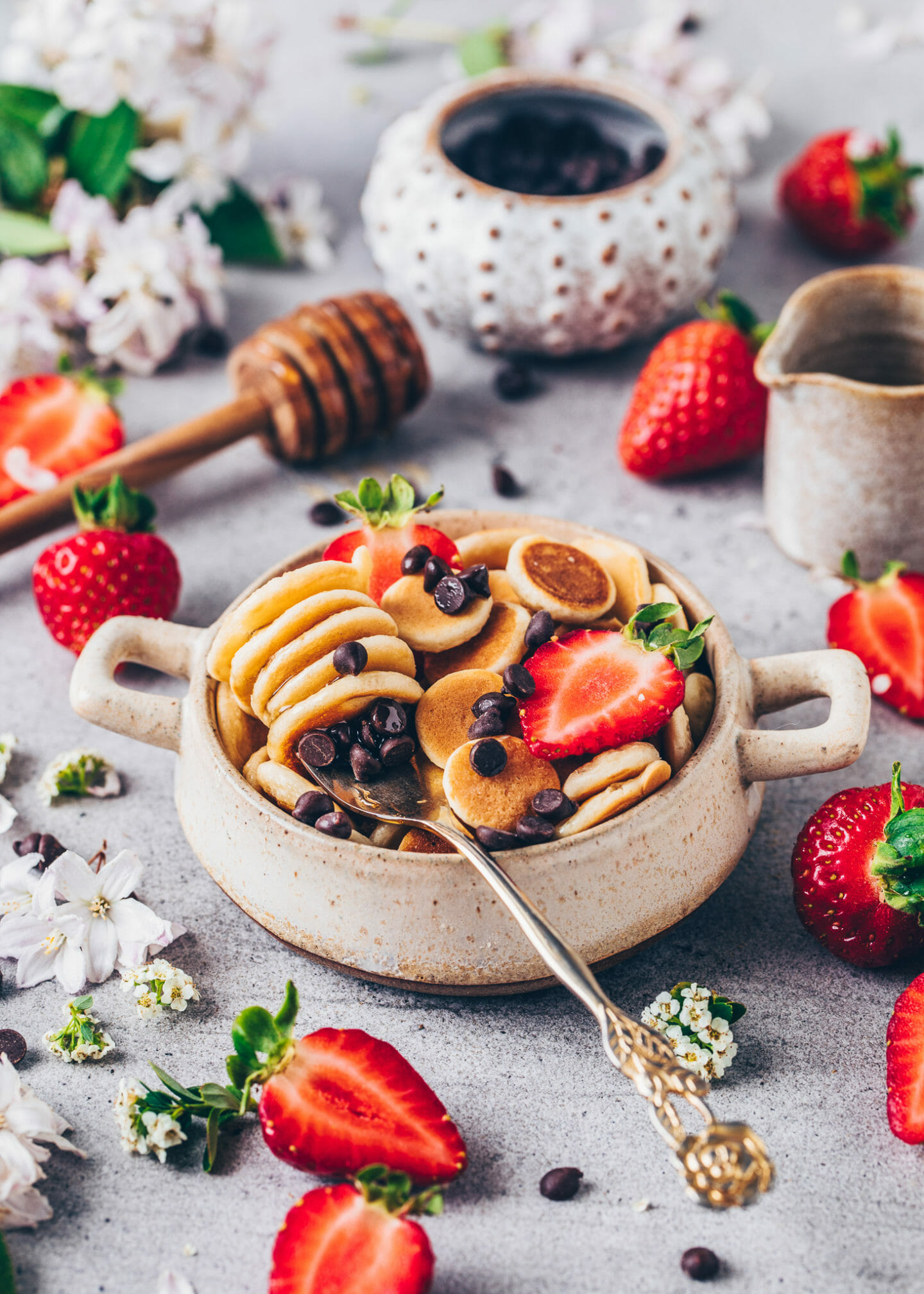 Mini Pfannkuchen (Pancake Cereal)