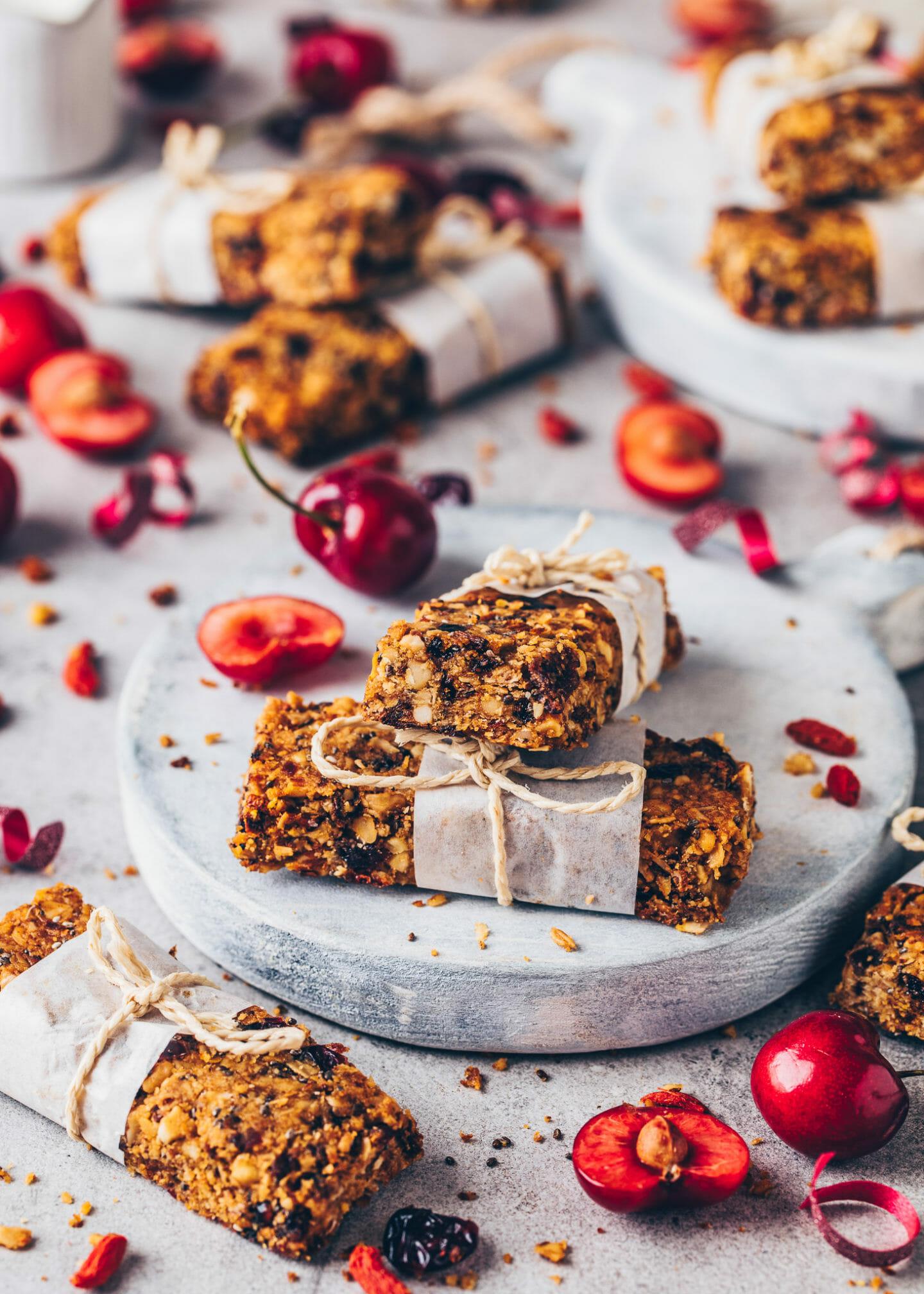 vegan, easy, healthy, gluten-free granola bars