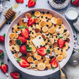 Vegan Pancake Cereal Recipe | TikTok Mini Pancakes