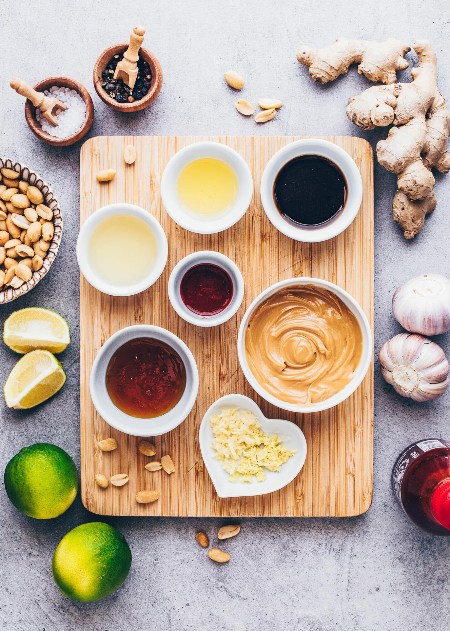 Zutaten für Erdnuss-Sauce