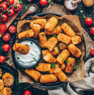 crispy baked potato croquettes