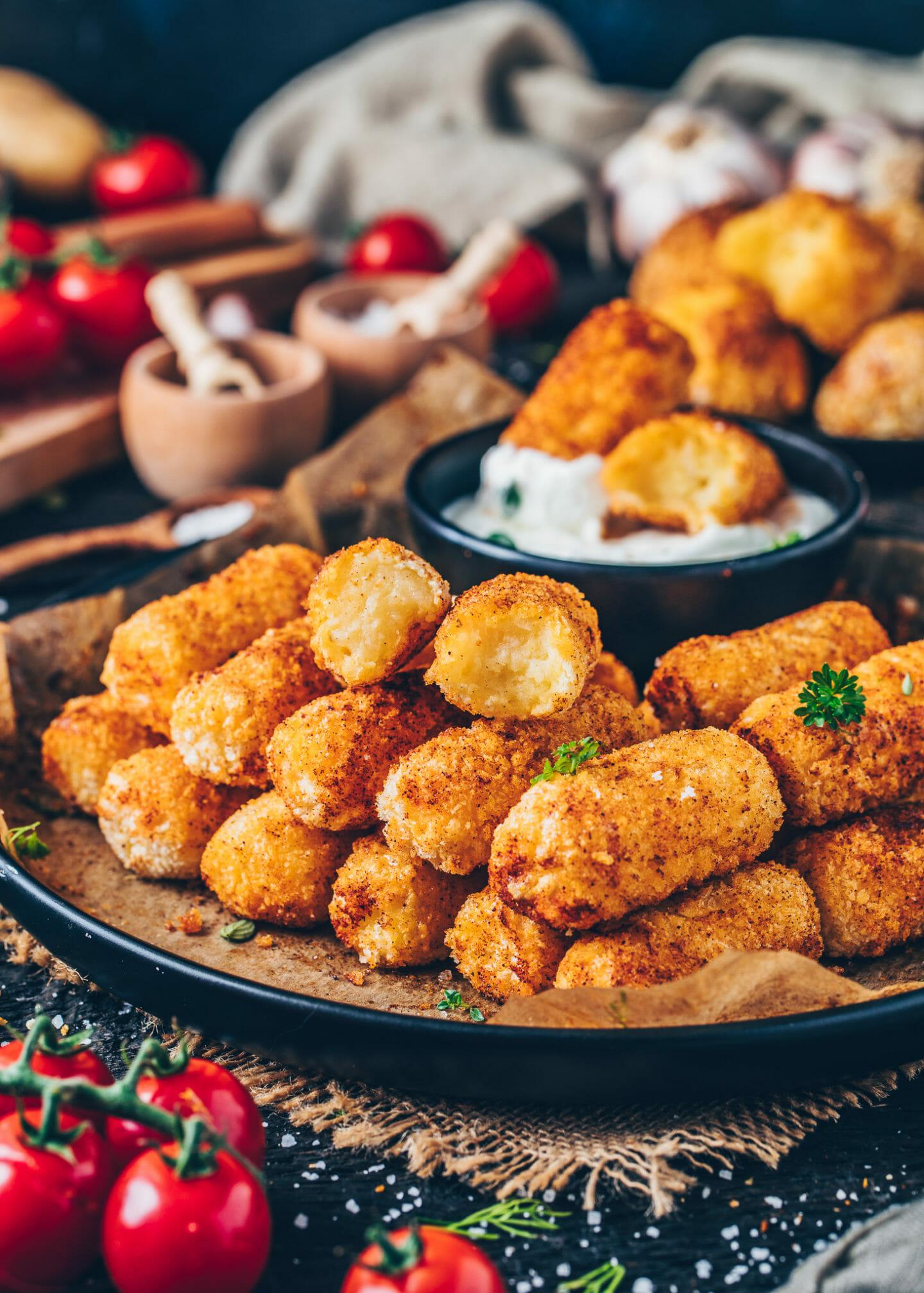 Vegan Potato Croquettes (Easy, Gluten-free Tater Tots)