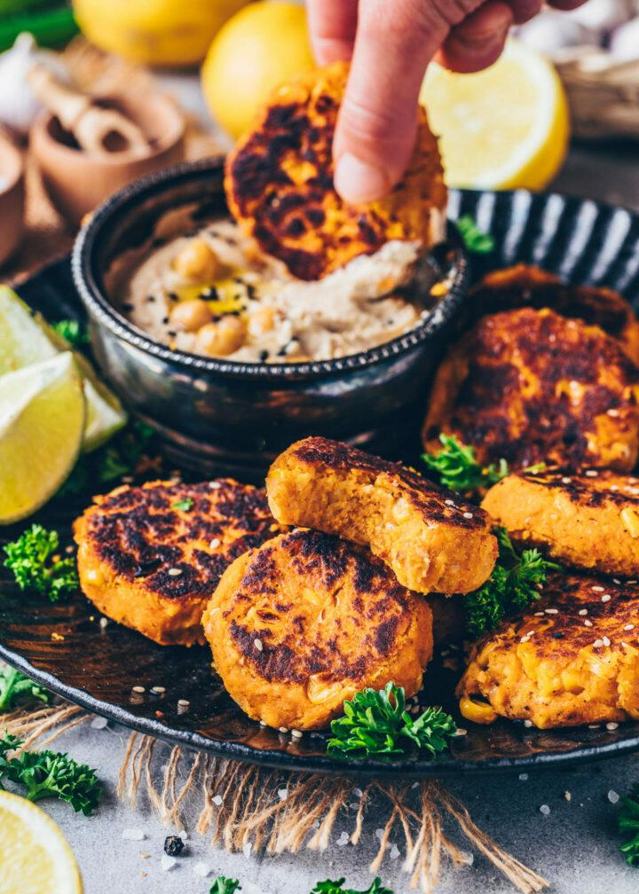 Süßkartoffel-Falafel (vegan, glutenfrei, einfach)