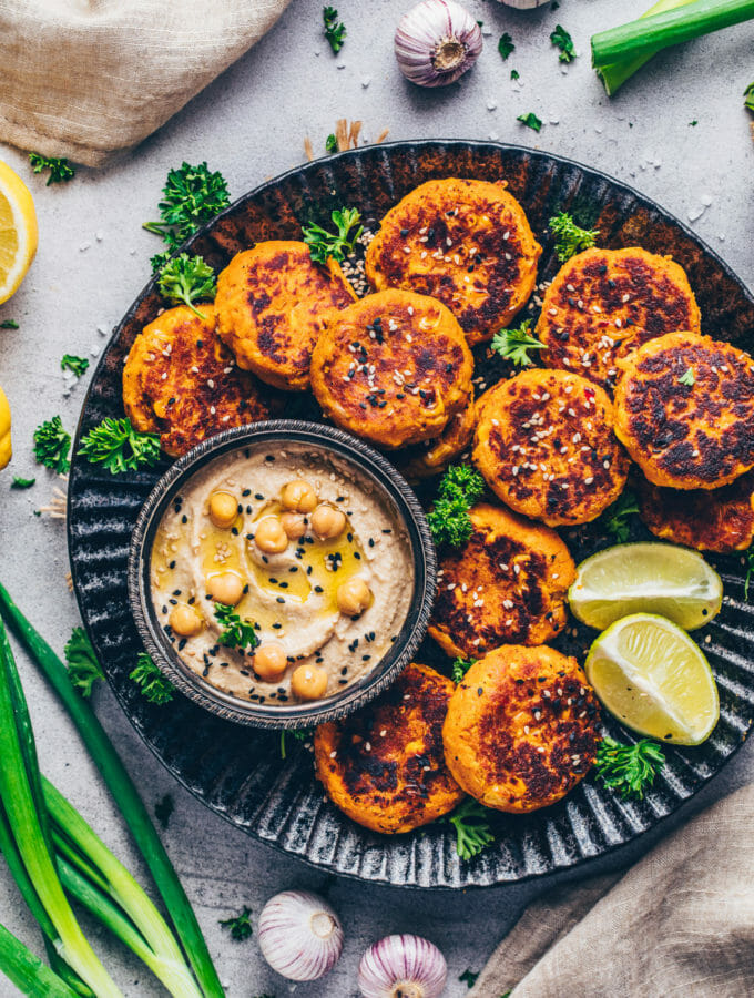 Sweet Potato Falafel with Hummus