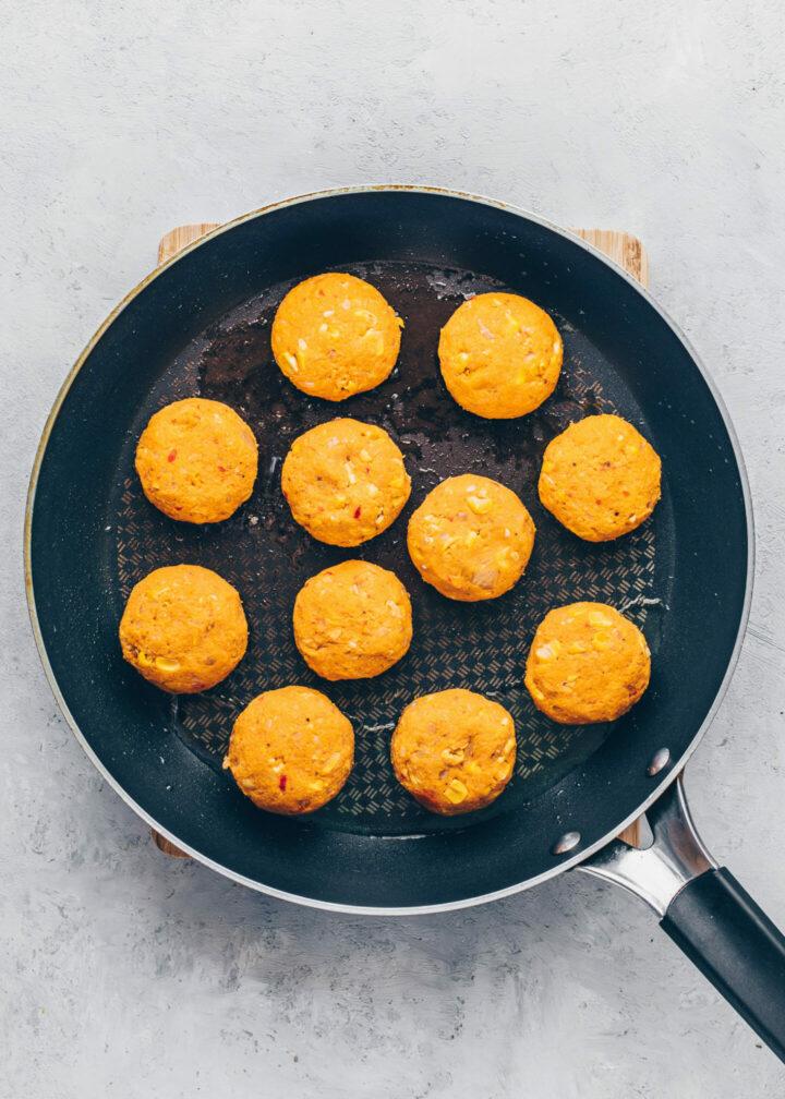 Selbstgemachte Süßkartoffel-Falafel