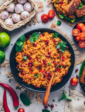 Türkischer Bulgur-Salat (Kisir), Food Fotografie