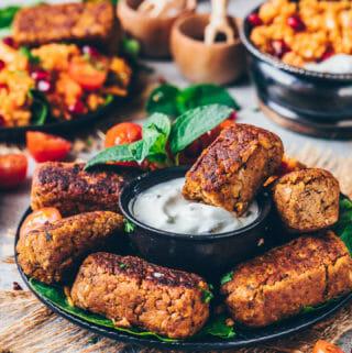 Vegan Cevapcici (Chickpea Sausages, Falafel)