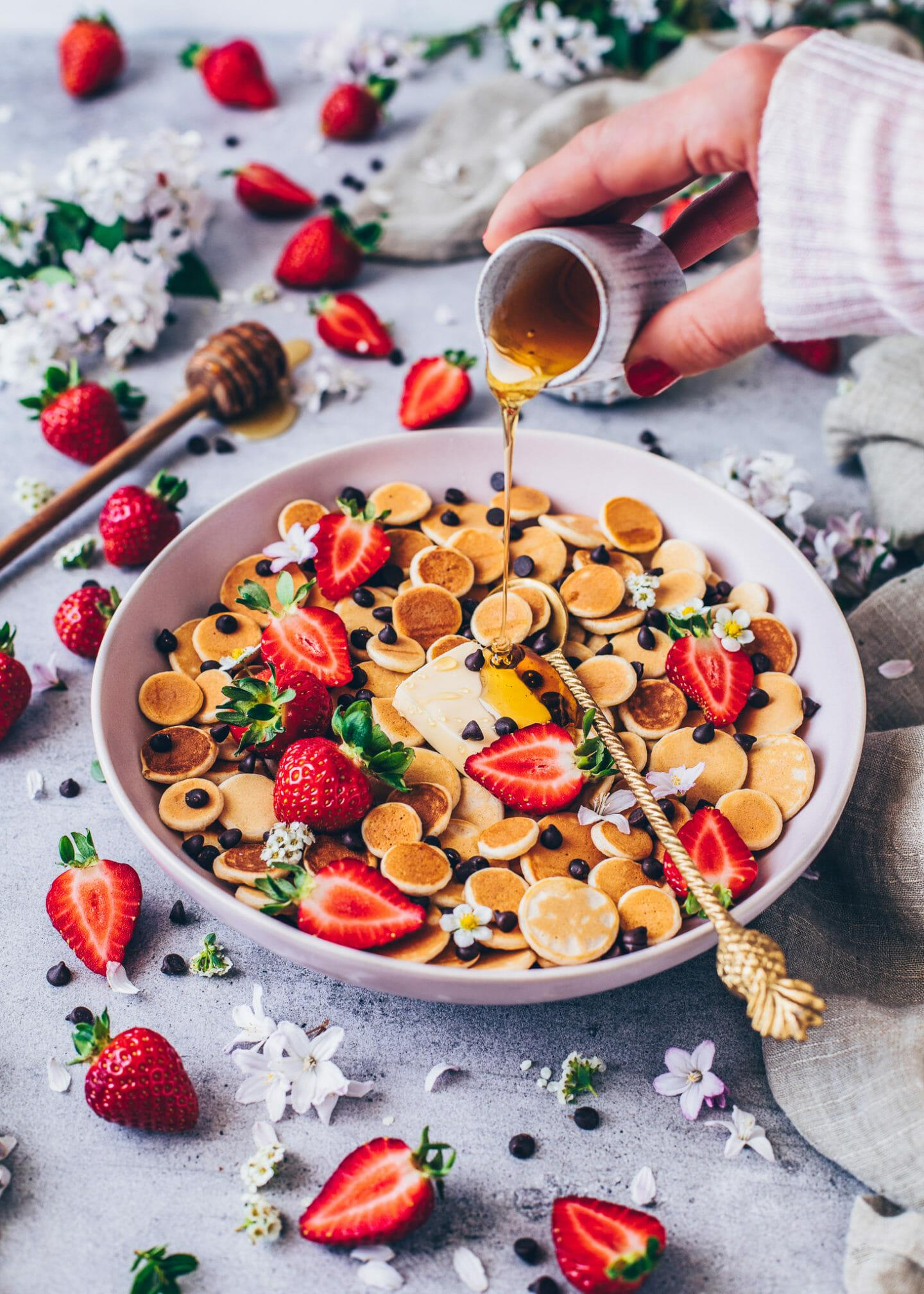 Mini Pfannkuchen (Pancake Cereal Bowl)