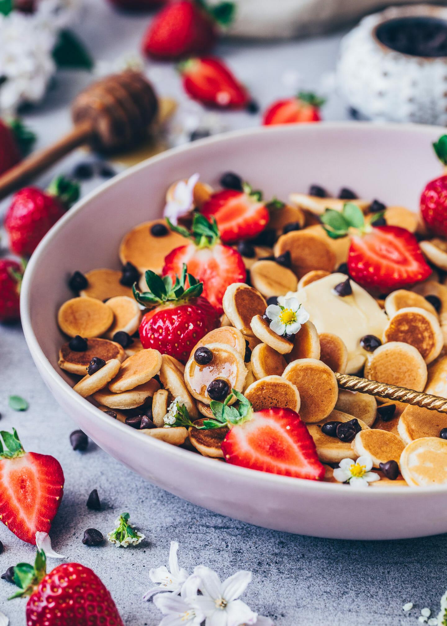 Pancake Cereal, Vegane Mini Pancakes