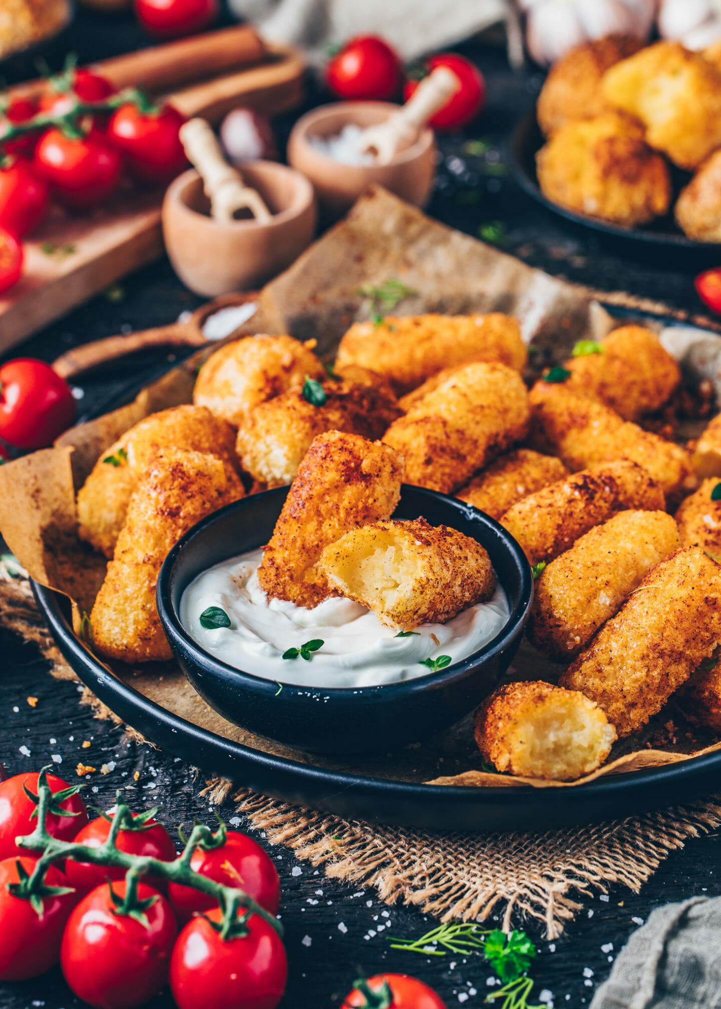 baked potato croquettes (crispy, soft, vegan, egg-less, gluten-free)